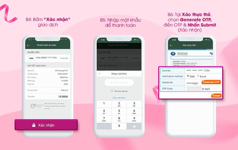 Chọn phương thức thanh toán trên ứng dụng Lucky Best
