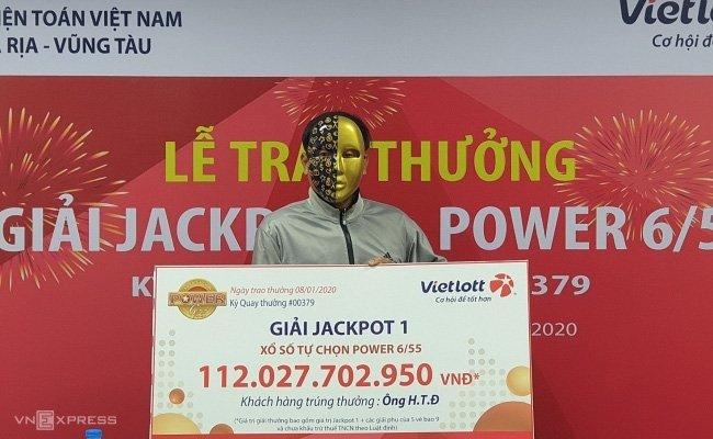 Anh H.T.Đ trúng giải 112 tỷ đồng