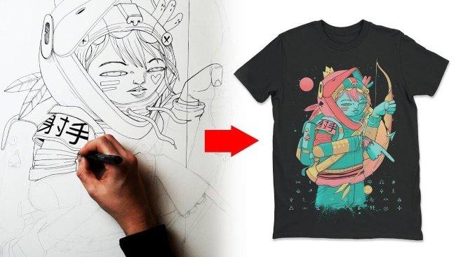 Học cách làm giàu từ vẽ áo thun