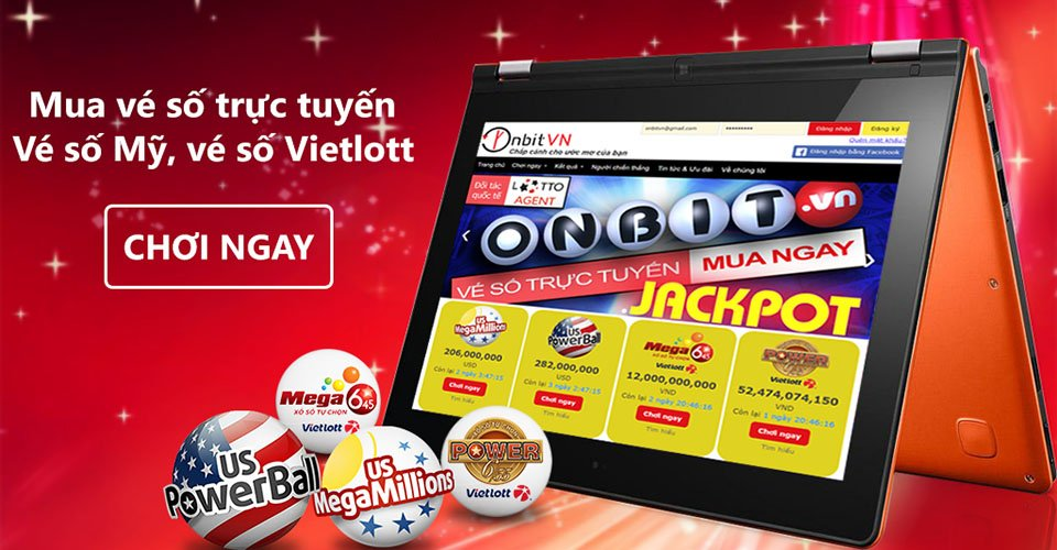 Mua vé số online Vietlott qua nền tảng mua hộ Onbit.vn