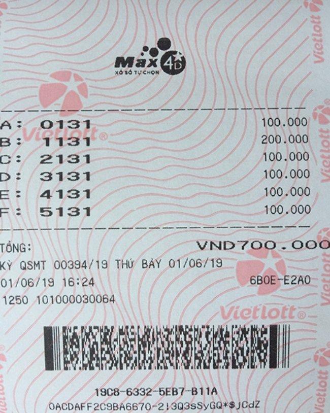 Bản scan vé số Vietlott online đã mua