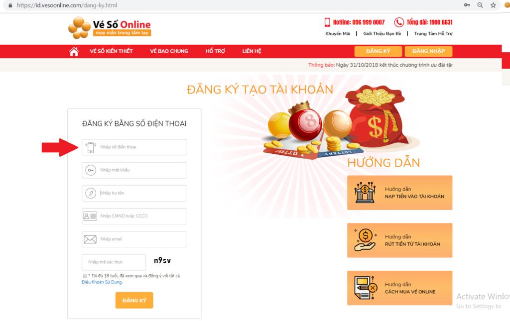 Vesoonline- dịch vụ mua hộ xổ số trực tuyến