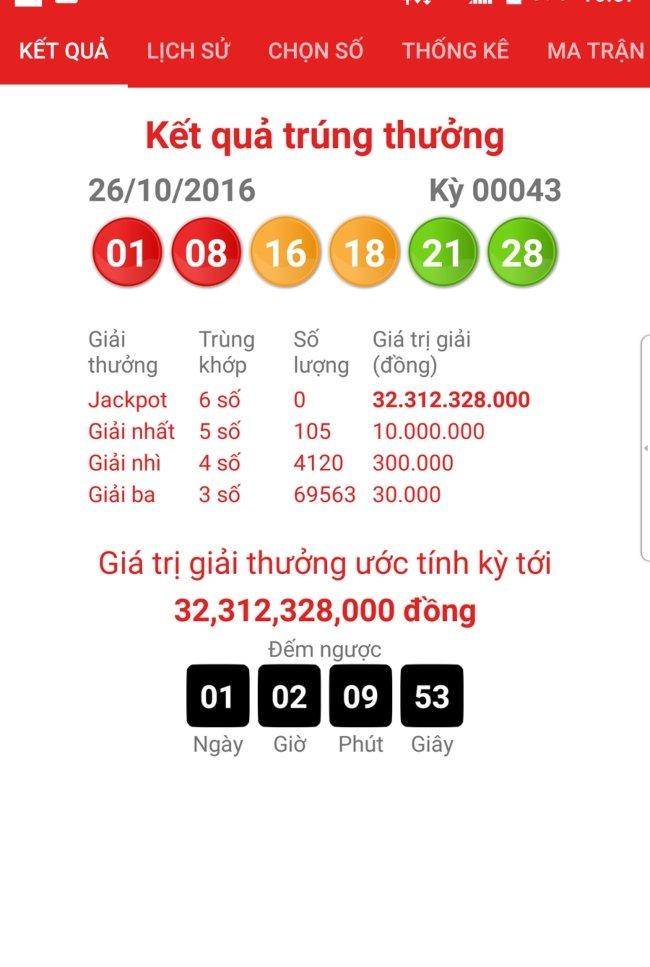 Dò kết quả Vietlott trên Vesoonline khi mua vé số online Vietlott