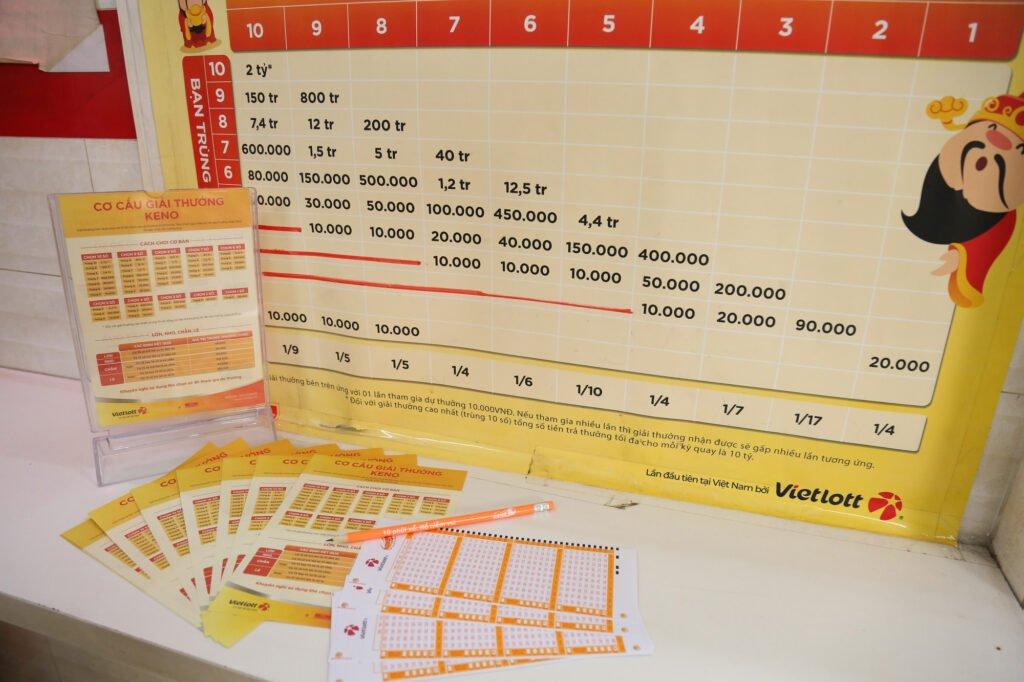 Luật chơi Keno Vietlott cho phép người chơi giành giải thưởng lên đến 2 tỷ đồng