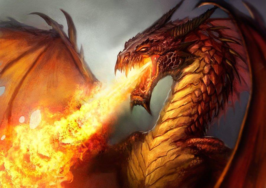 Nằm mơ thấy rồng phun lửa là điềm lành