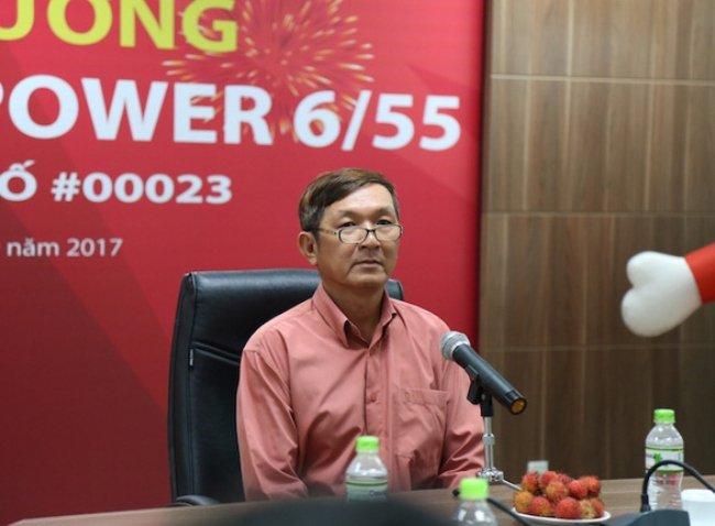 Ông Tùng là người đầu tiên trúng Jackpot 2 của sản phẩm Power 6/55