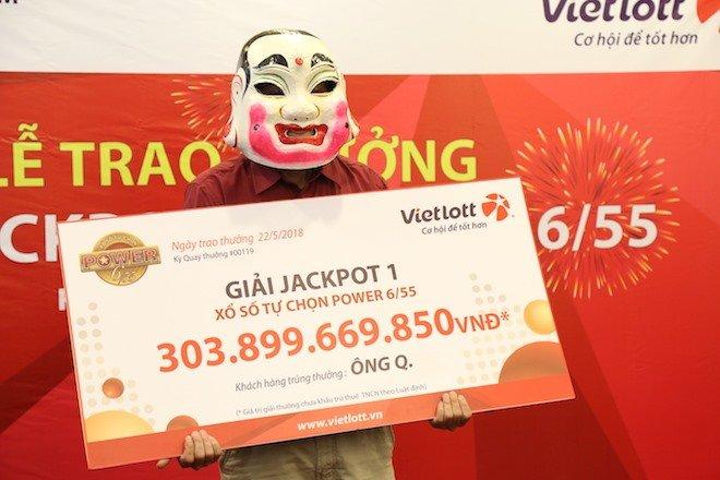 Ông Q. hiện là người trúng Vietlott Jackpot cao nhất hiện nay