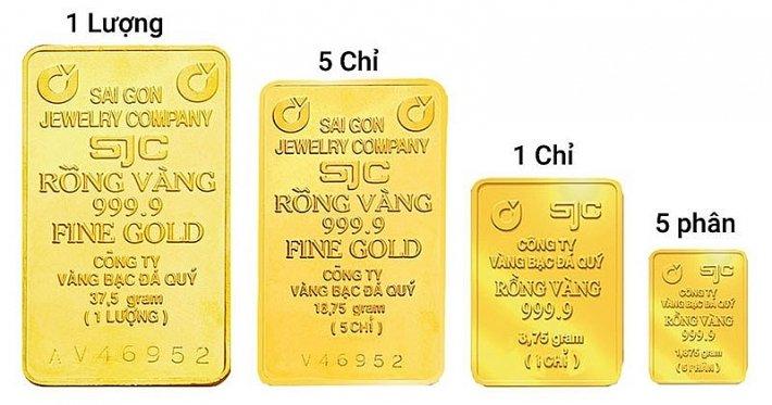 Phân loại vàng miếng SJC