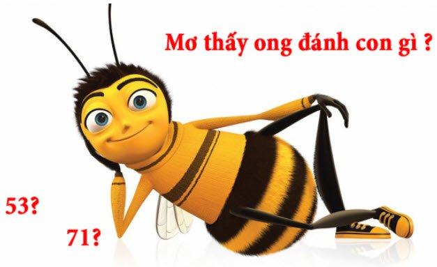 Nằm mơ thấy ong đánh số mấy dễ trúng