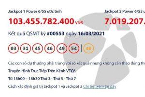 vietlott jackpot power 6/55 vượt 100 tỷ